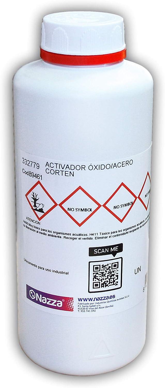 Activador de Óxido para Superficies Metálicas - Efecto Acero Corten- 1 Litro