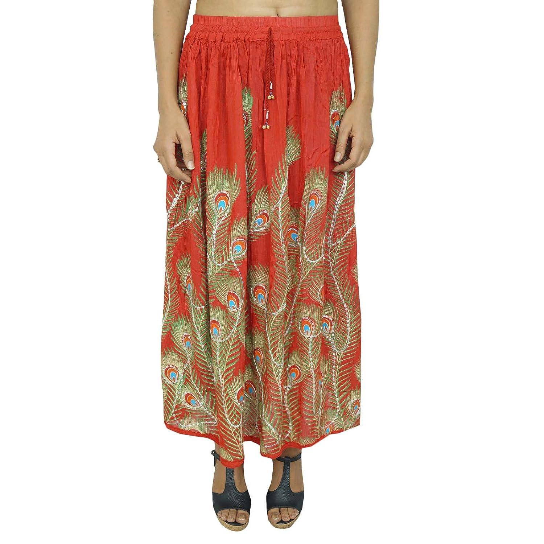 Rock Rayon Hippie Kleidung Blumenkleid Resort Wear Women India Summer Wear Geschenk für sie