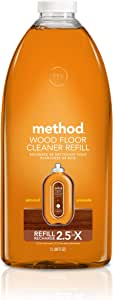 Method Squirt and Mop Wood Floor Cleaner, Refill, Almond, 2L