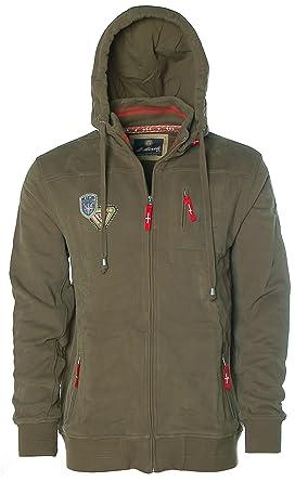 542dd8147c321 St. Moritz Herren Sweatjacke Jacke Stehkragen Kapuze Outdoor Rescue Team   Amazon.de  Bekleidung