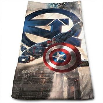 HYJRATHRSY Captain America - Toallas de Mano absorbentes y Suaves para baño, Hotel, Gimnasio y SPA (11.8 x 27.6 Pulgadas): Amazon.es: Hogar