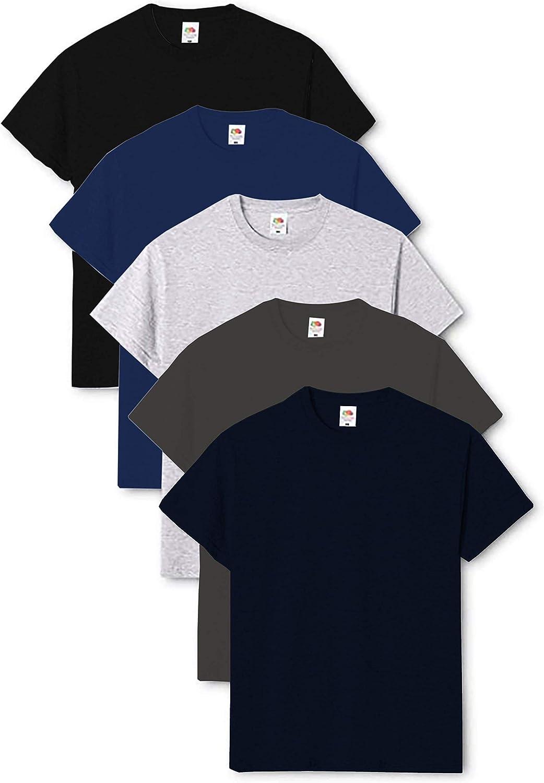 T-Shirt Pacco da 5 Fruit of the Loom Original T Uomo