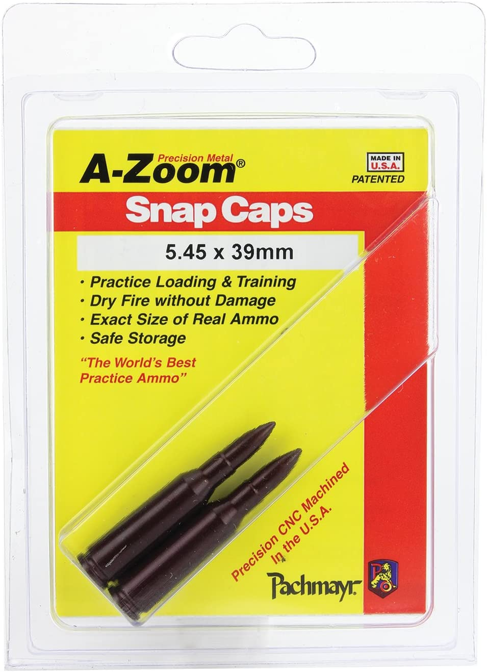 A-ZOOM 2 Pack Action Proving Dummy Round Snap Caps 5.45 x 39 2 Pack # 12285 New!