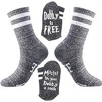 2 Pairs Dobby is Free Socks Master Has Given Dobby A Socks Dobby Socks Novelty Funny Slipper Socks Cotton Crew Socks for…