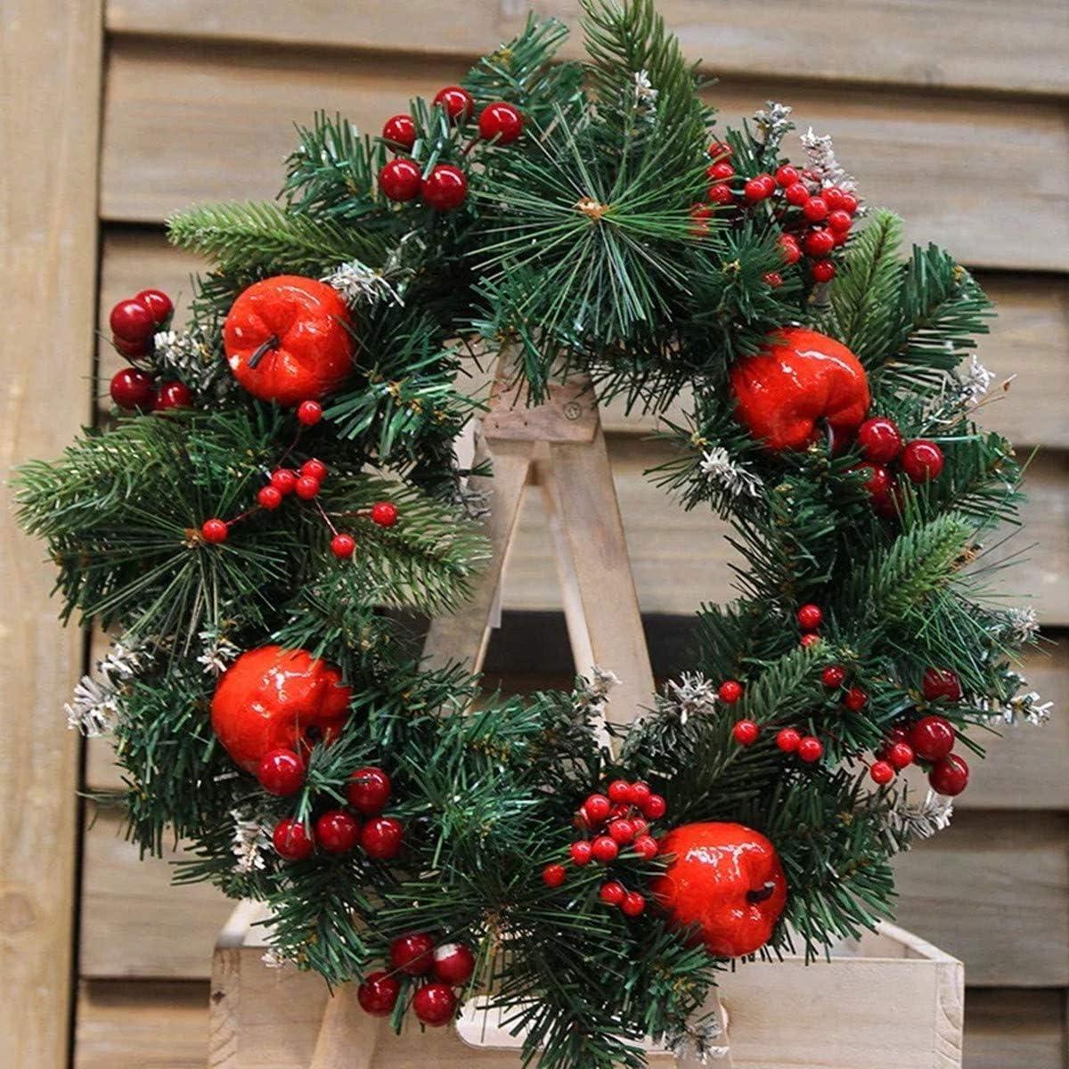 ExeQianming decorazione per albero di Natale Bacche artificiali di agrifoglio rosso da 10 mm ghirlanda fai da te