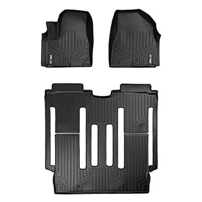 MAXLINER Floor Mats 2 Row Liner Set Black for 2015-2020 Kia Sedona 8 Passenger Model Only: Automotive