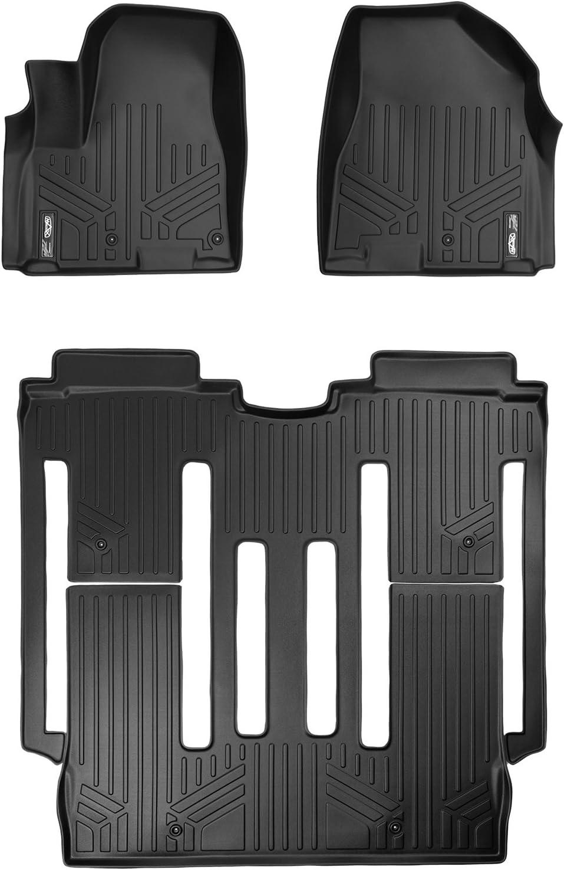 SMARTLINER Custom Fit Floor Mats 1st Row Liner Set Black for 2015-2019 Kia Sedona All Models