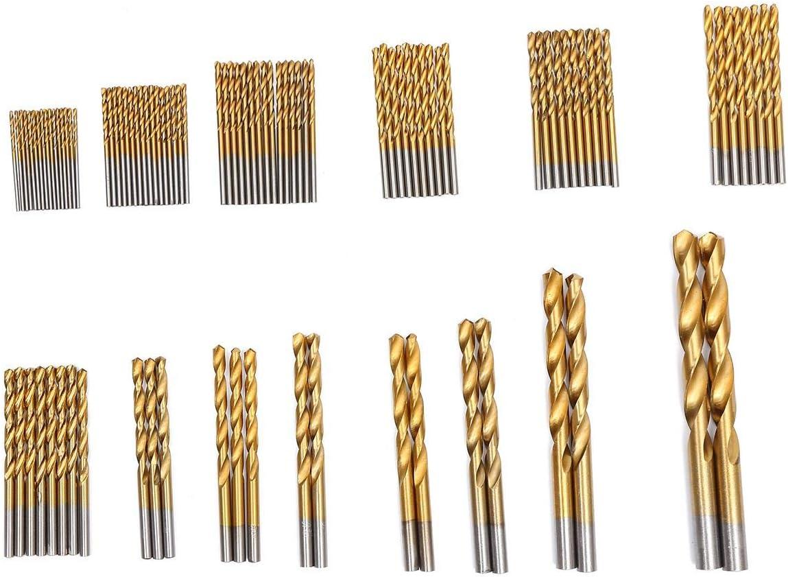 Juego de brocas para taladro 99 piezas, 1,5 a 10 mm HSS