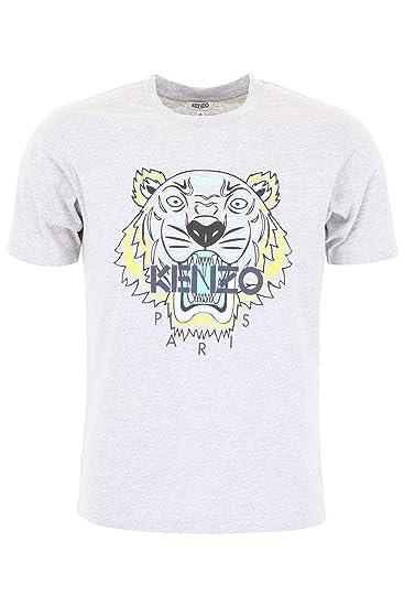 f50c932b1 Kenzo Men's F955TS0504YA94 Grey Cotton T-Shirt: Amazon.co.uk: Clothing