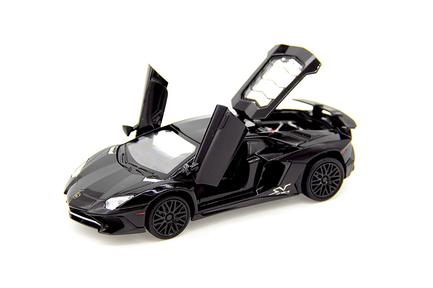 Lamborghini Aventador S LP 740-4 1:32 Scale Diecast Model Car (Black) CellDesigns