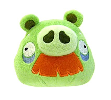 Amazon Com Angry Birds Plush 5 Inch Grandpa Pig With Sound Toys