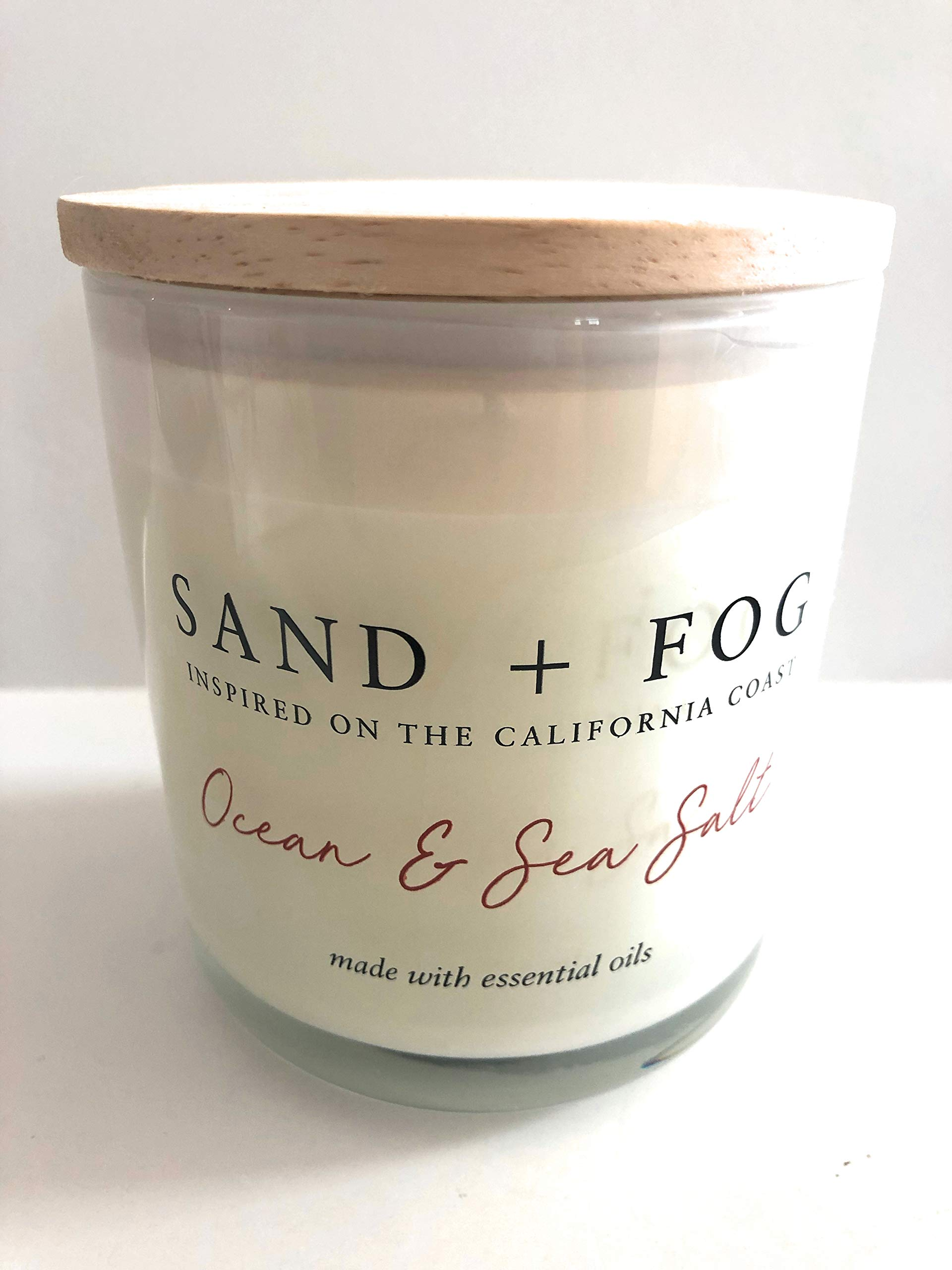 Sand + Fog Ocean Sea Salt Single Wick Candle with Lid 12 Oz