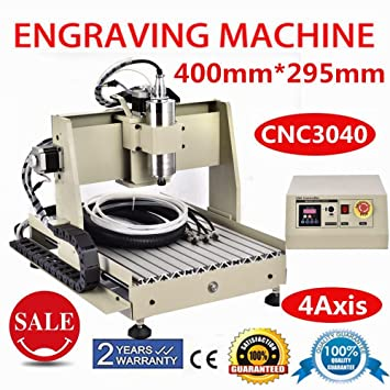 Used Milling Machines Power Tools Tools Home Amazon Com >> Power Milling Machines 4 Axis Cnc 3040 Router 3d Engraver Engraving