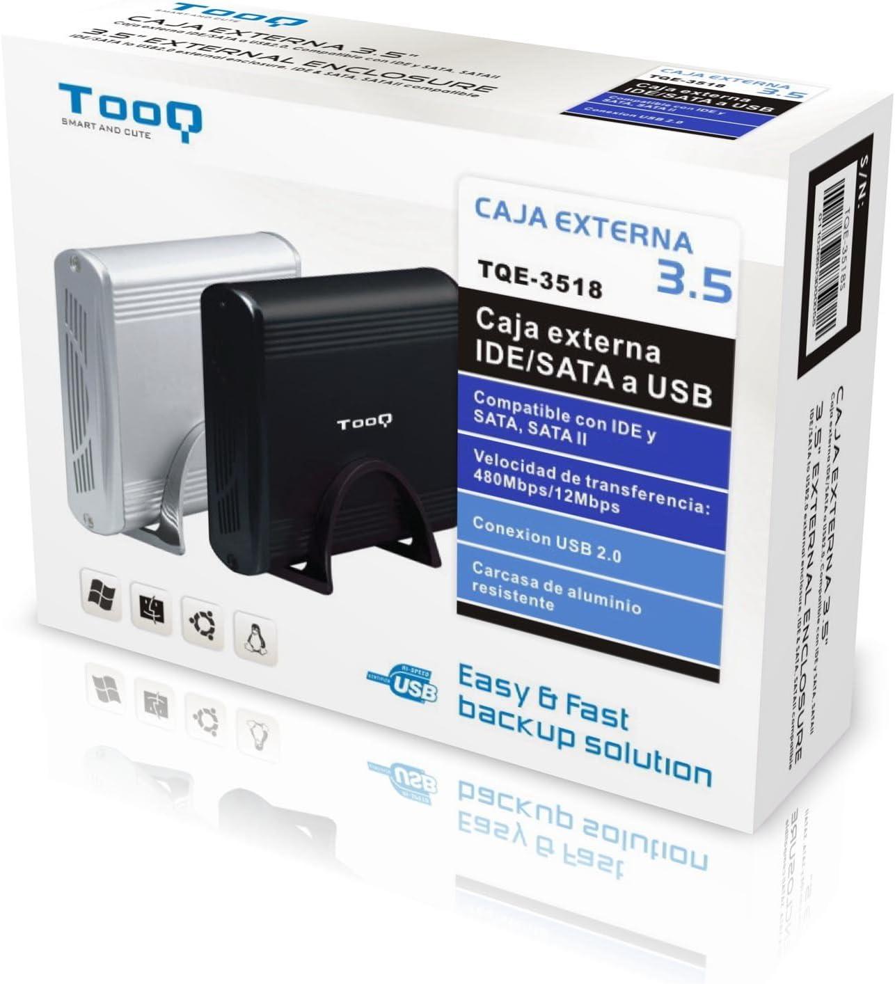 TooQ TQE-3518S - Carcasa para Discos Duros HDD de 3.5