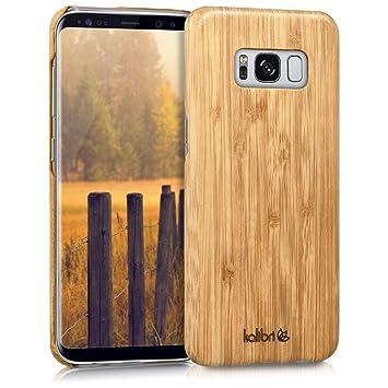 kalibri Funda para Samsung Galaxy S8 - Carcasa Trasera [Ultra Delgada] de [bambú] - Cover Protector [marrón Claro]
