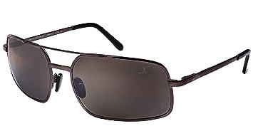 Xezo UV 400 Gafas de Sol de Titanio polarizadas con Lentes de Espejo antirreflectantes, Oscuro