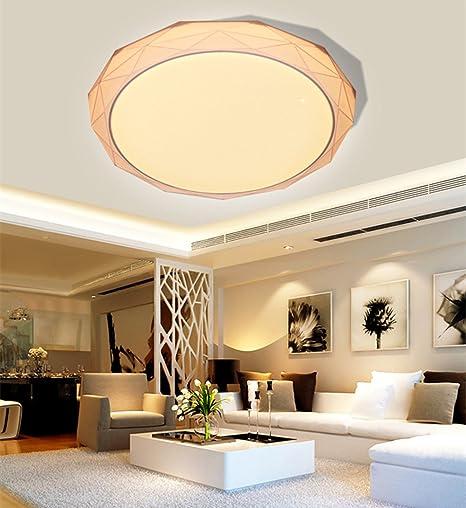 Luces de Techo Modernas Simplificadas LED Lamparas de Techo Iluminación Interior Económica de Energía de Techo 24W Cold White Marrón