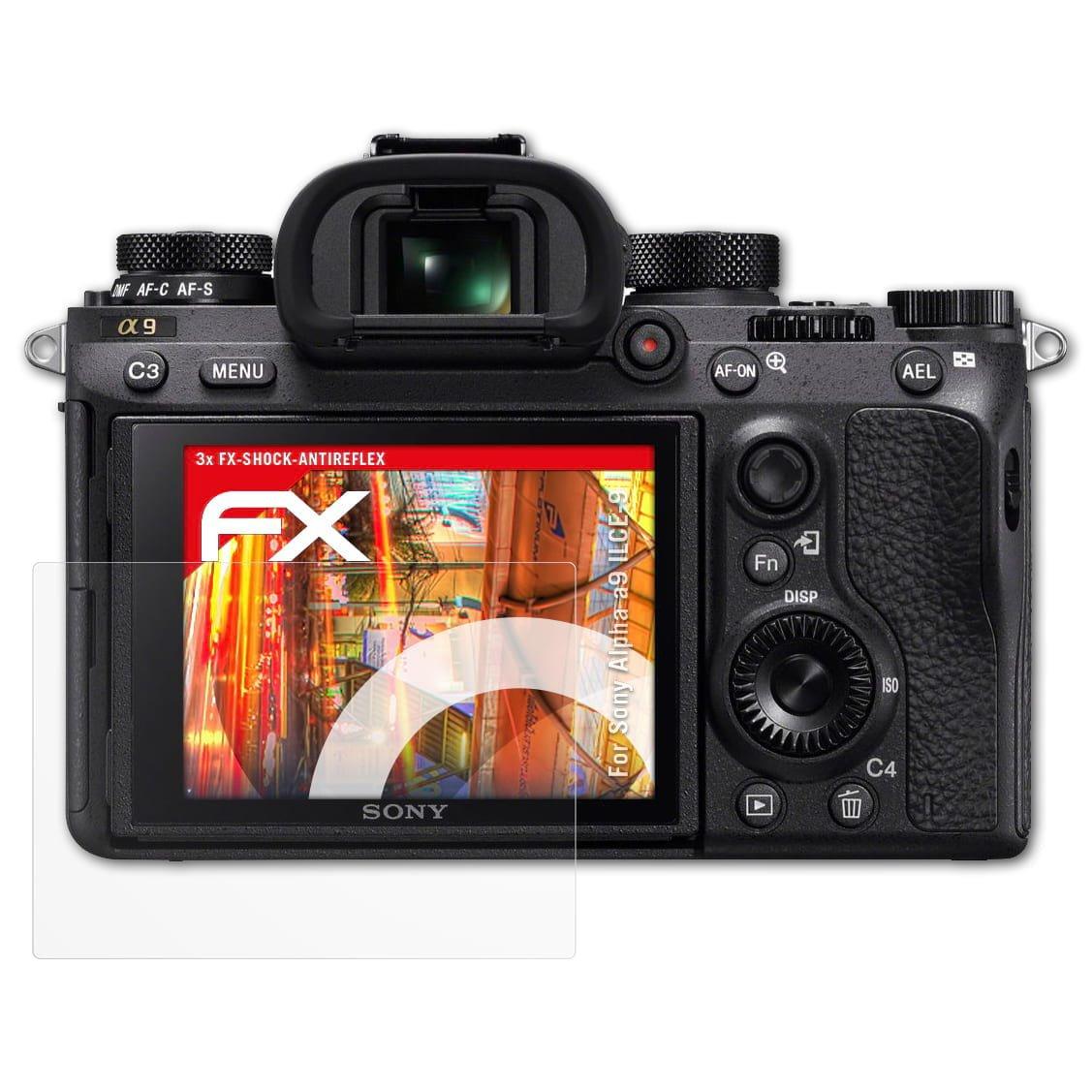 atFoliX 3x Sony a7 /& a7R /& a7S Schutzfolie FX-Antireflex-HD