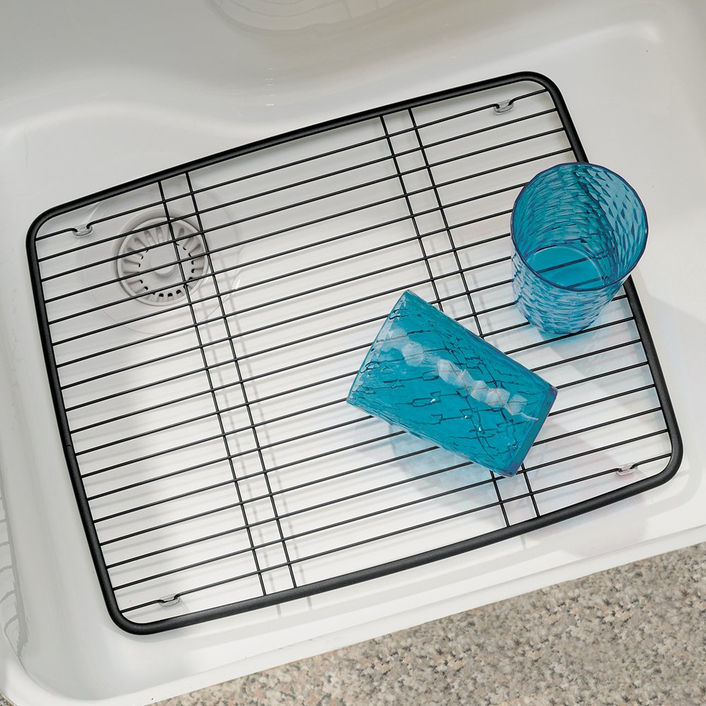 InterDesign Axis Sink Protector, Metal Dish Drainer Grid for Kitchen ...