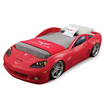 Step2 Corvette Bed Without Lights   Red/Silver/Black