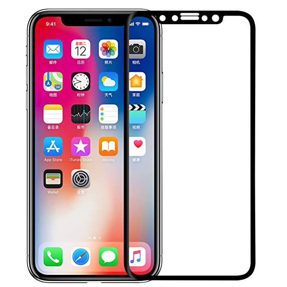 best service 51c9e a388a Nillkin iPhone Xs/X Screen Protector, [CP+ MAX Series] [3D Curved Edge-Full  Coverage] Oleophobic Coating Tempered Glass Screen Protector for iPhone ...