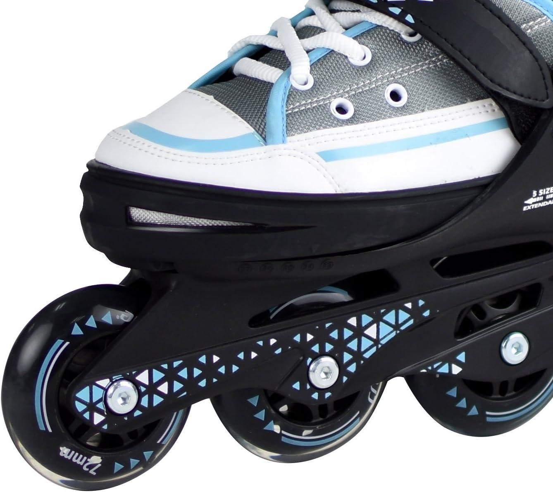 Sports Inliner Skate Soft Kinder Jugend Damen Gr/ö/ßenverstellung 5 Gr/ö/ßen verstellbar L.A