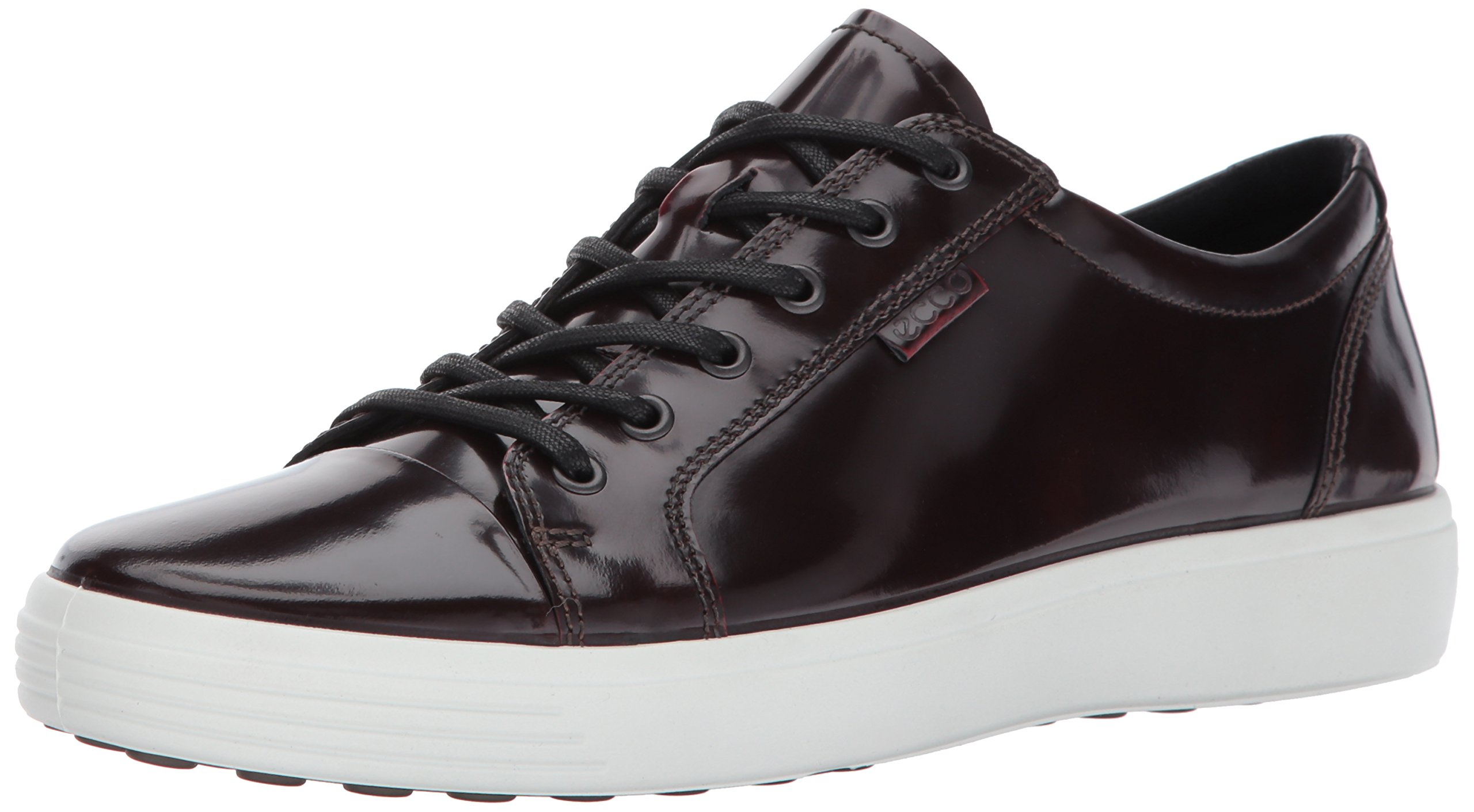 ECCO Men's Soft 7 Premium Tie Fashion Sneaker, Bordeaux Patent, 44 M EU/10-10.5 D(M) US