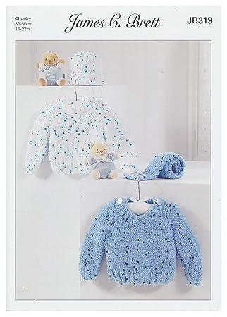 Amazon Com James Brett Chunky Knit Pattern Baby Kids Round Or V