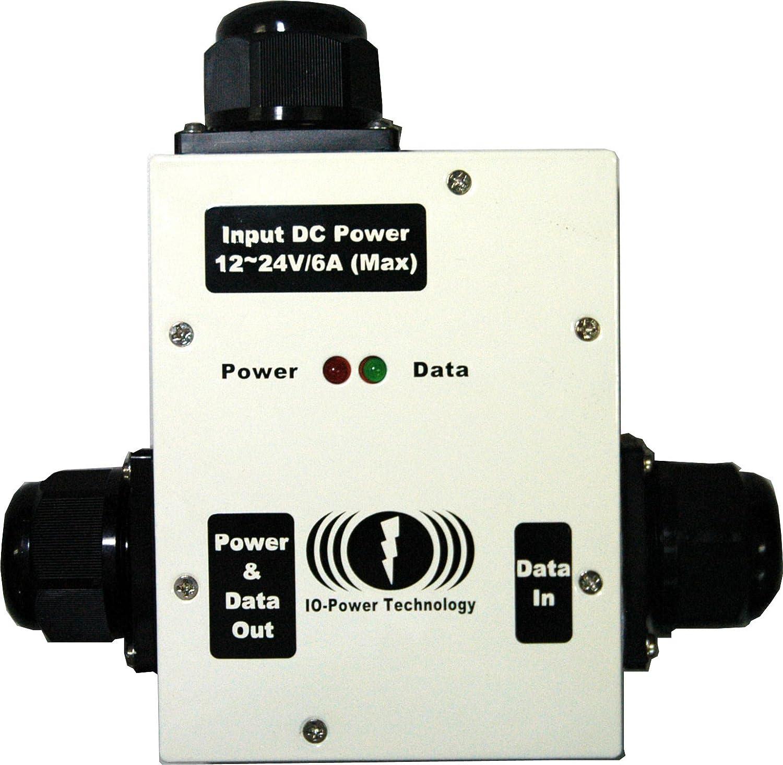 48V-72W Passive Mode PoE 24V-36W Converter 12V-18W IOP-DPOE-PSP4872-2 Outdoor DC to DC Power Over Ethernet 36V-54W