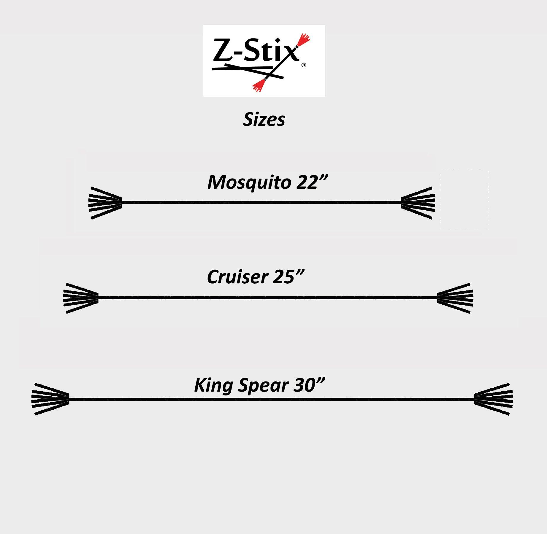 Z-Stix Mosquito Flower Sticks- Black White Checks- Juggling Sticks