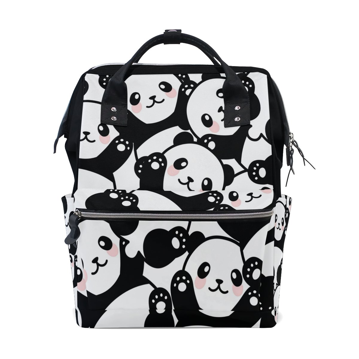 WOZO Cute Panda Multi-function Diaper Bags Backpack Travel Bag