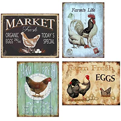 Buy Flowerbeads Farmhouse Sign Funny Wall Signs Chicken Coop Country Decor For Home Farm Kitchen Online In Indonesia B07szmsxx2