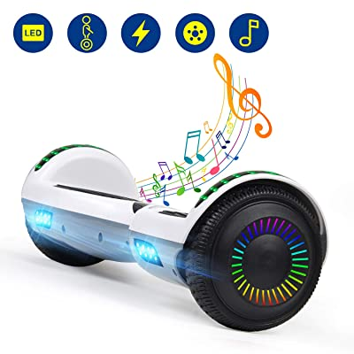 YHR Hoverboards UL2272 Certified with Wireless Bluetooth Speaker LED Wheel 6.5inch Self Balancing Hoverboard for Kids: Sports & Outdoors