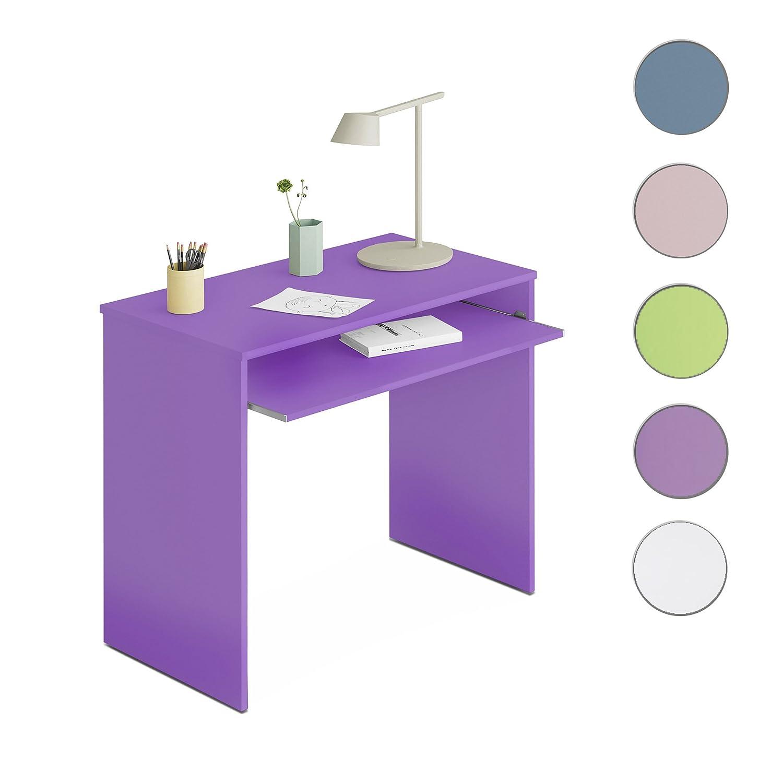 Due-home Habitdesign 002314L - Mesa de ordenador con bandeja extraible, color Lila, dimensiones: 90x79x54 cm de fondo
