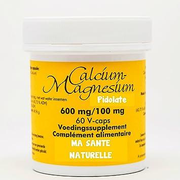 pidolate Calcio 600 mg - Magnesio 100 mg - 60 Cápsulas vegetales: Amazon.es: Salud y cuidado personal