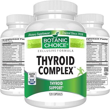 Botanic Choice Thyroid Complex - Non GMO Thyro Supplement for Sluggish Body, Weight Management, Energy & Hormone Gland Health for Men & Women