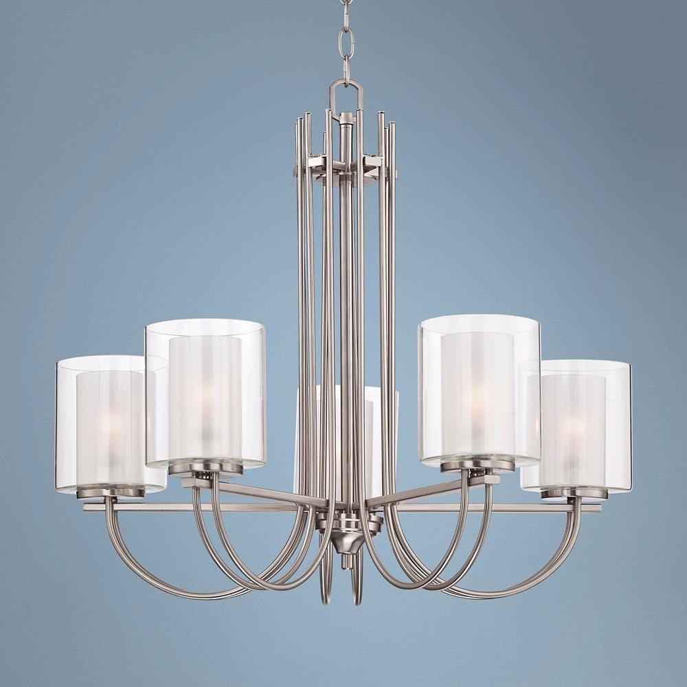 Possini euro melody 26 34 wide brushed steel chandelier amazon arubaitofo Gallery