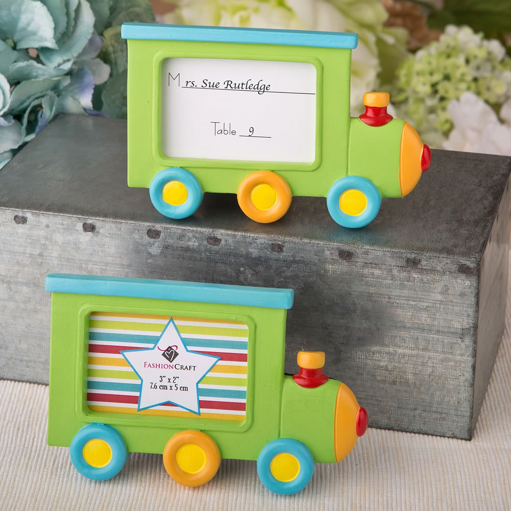 62 Little Locomotive Engine Photo Frames / Placecard Holders by Fashioncraft