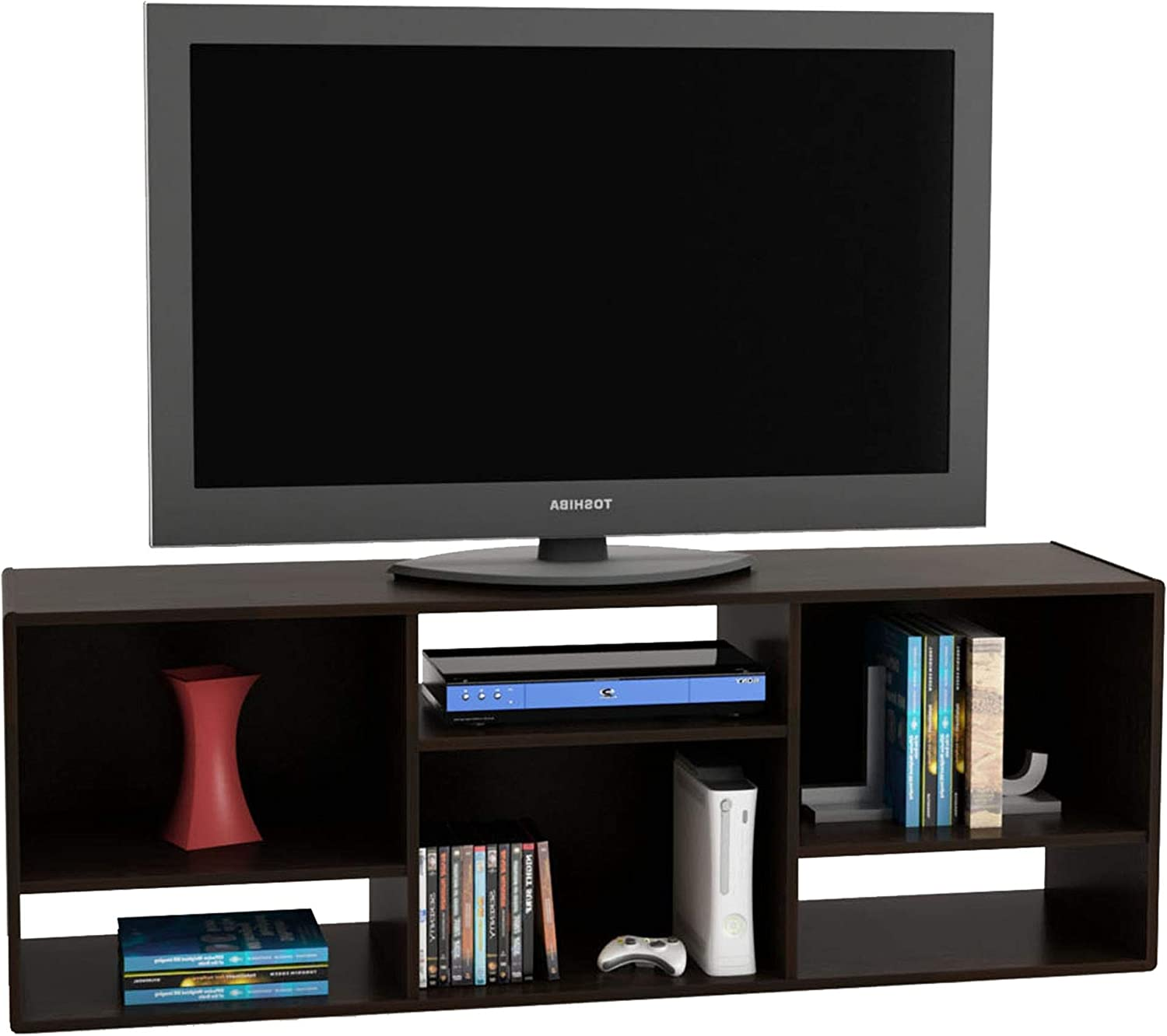 """Ameriwood Home Nash Bookcase/TV Stand for TVs up to 60"""", Espresso"""