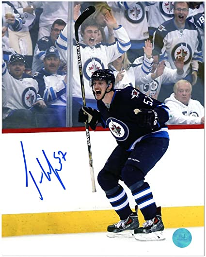Tyler Myers Winnipeg Jets Autographed Goal Celebration 8x10 Photo At Amazon S Sports Collectibles Store