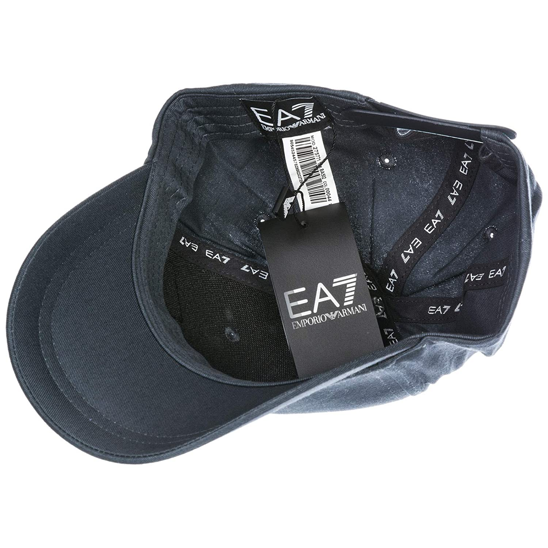 3b311f79bc646 Emporio Armani EA7 adjustable men s cotton hat baseball cap grey   Amazon.co.uk  Shoes   Bags