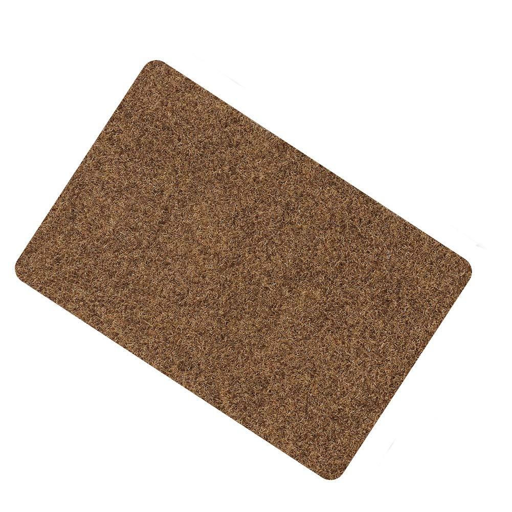 Door Mat for Indoor Outdoor Super Absorbs Mud Doormat for Small Front Door Outside Floor Dirt Trapper Mats Polyester Fiber Entrance Rug15.5''X23'' Shoes Scraper Super Grip Rubber Backing Non Slip Brow by Fantasi