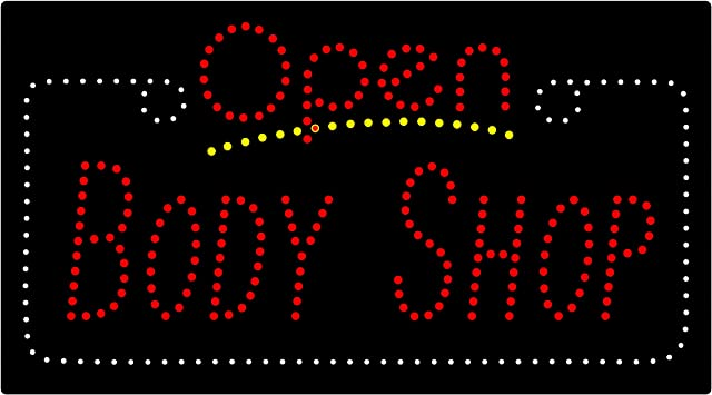 Amazon Com Led Auto Body Shop Open Light Sign Home Improvement