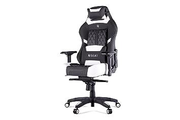 N. Seat Pro 600 ergonómico Gaming/Silla de Oficina con Soporte Lumbar y reposacabezas Almohada: Amazon.es: Hogar