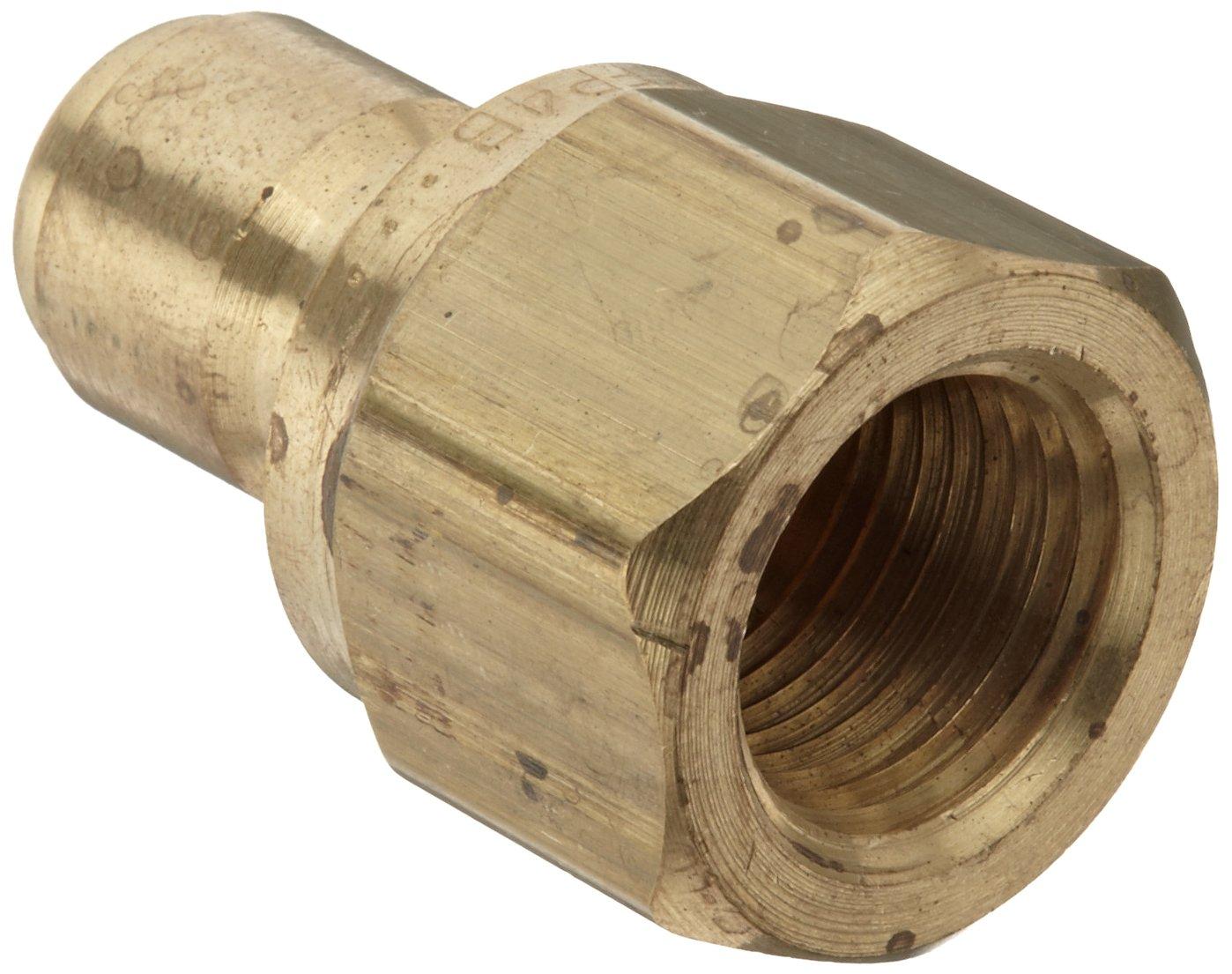 1//2 Female Coupling x 1//2-14 Straight Plug Dixon STFP4B Brass Hydraulic Quick-Connect Fitting