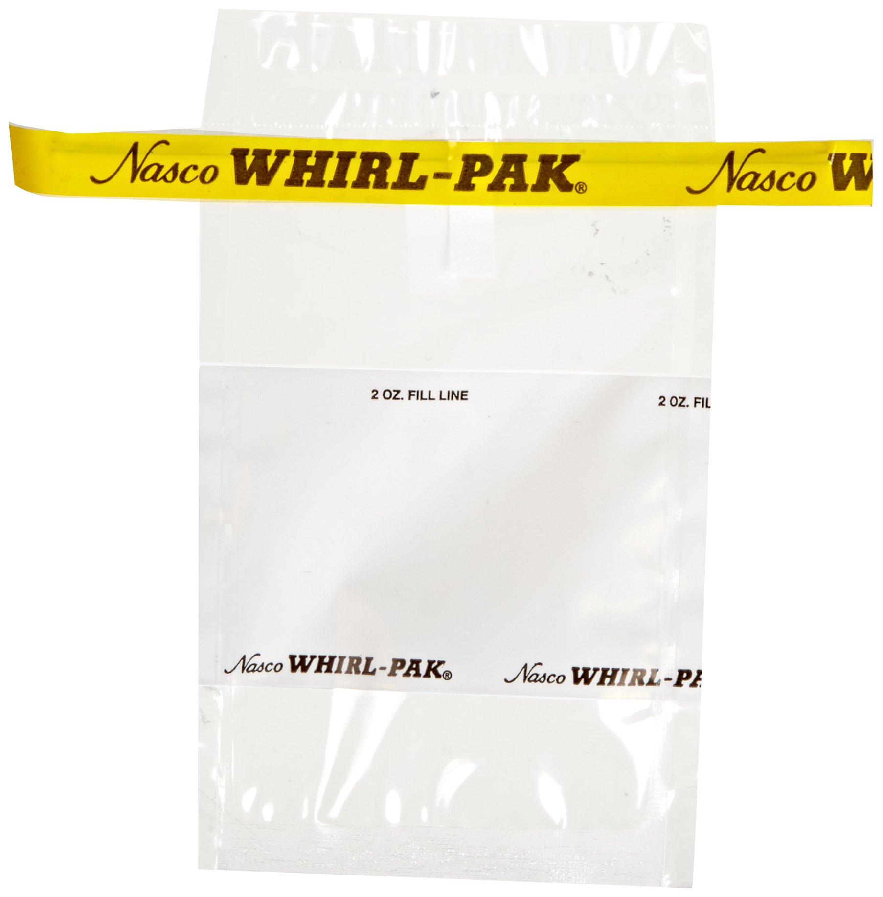 Nasco Whirl-Pak B01064WA Write-On Bag, 12.5cm L x 7.5cm W, 0.057mm Thickness, 58ml Capacity (Box of 500)