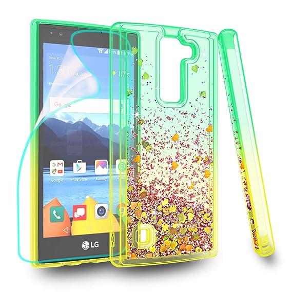 super popular 3c222 9fb5d ZingCon Suit for LG K8 V Case, K8V, VS 500 Phone Case, Glitter Case with  Quicksand Bling Adorable Shine, [HD Screen Protector] Shockproof Hybrid  Hard ...