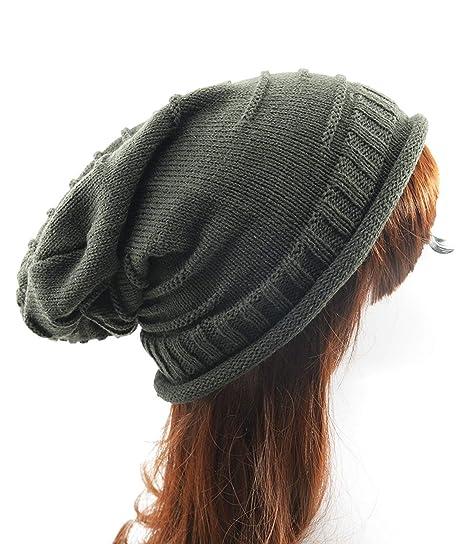 Century Star Winter Oversized Slouchy Beanies Women Warm Knit Beanie Hat  Loose Soft Hats Dark Grey ffcb378f65f