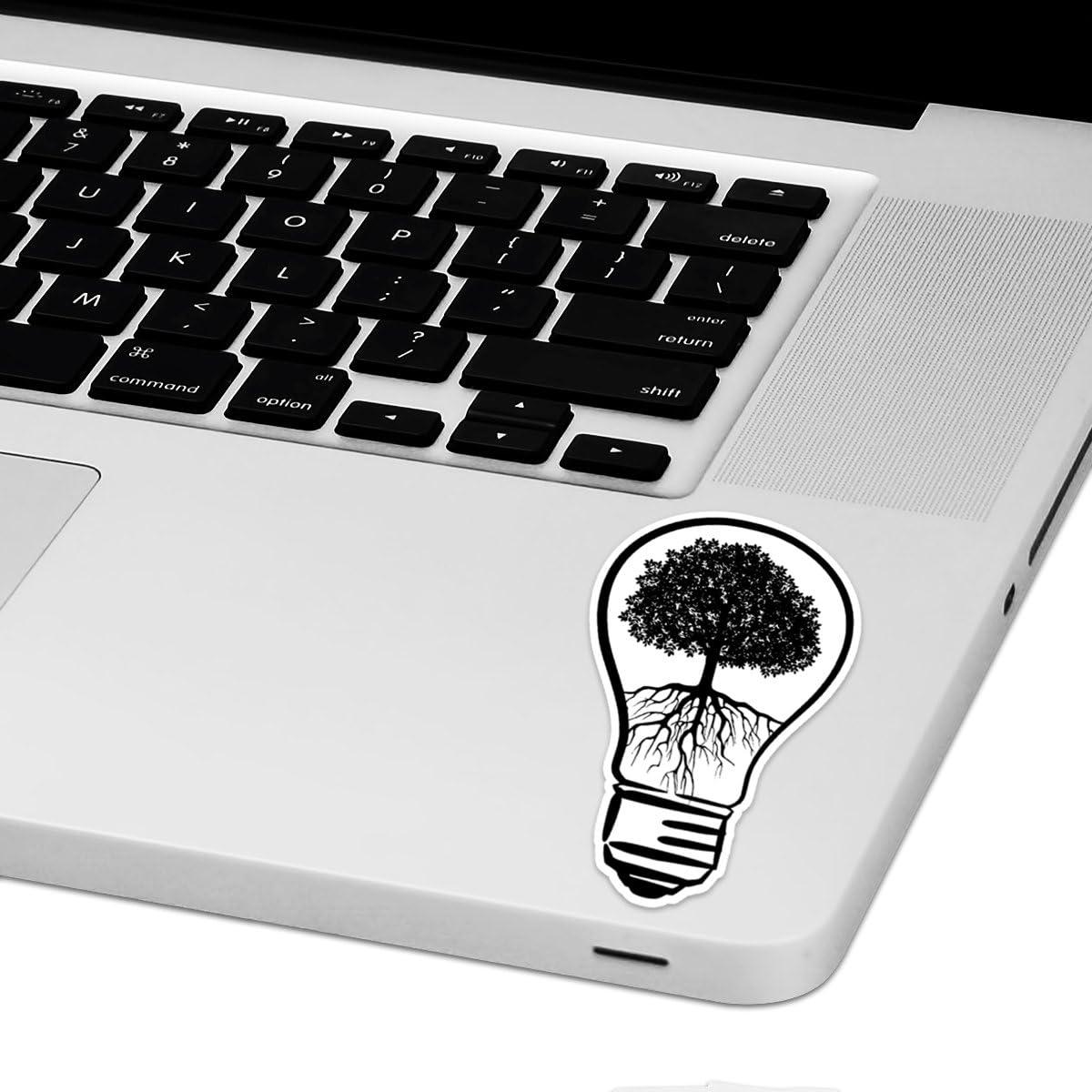 """Lightbulb Tree Laptop Trackpad Sticker 4"""" Tall x 2.5"""" Wide"""