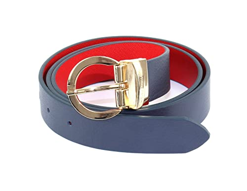 TOMMY HILFIGER Twist Belt 3.0 W80 Midnight / Scooter Red